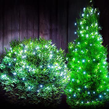 Babz 100 Led Solar Garden String Fairy Lights Rechargable Solar ...