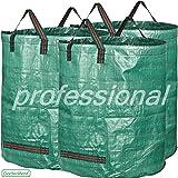GardenMate® 3x sacs de jardin 300L PROFESSIONAL en polypropylène (PP) robuste