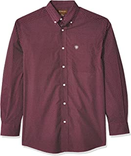 Ariat Men/'s Retro Fit Long Sleeve Snap Shirt Wagnor Multi SML