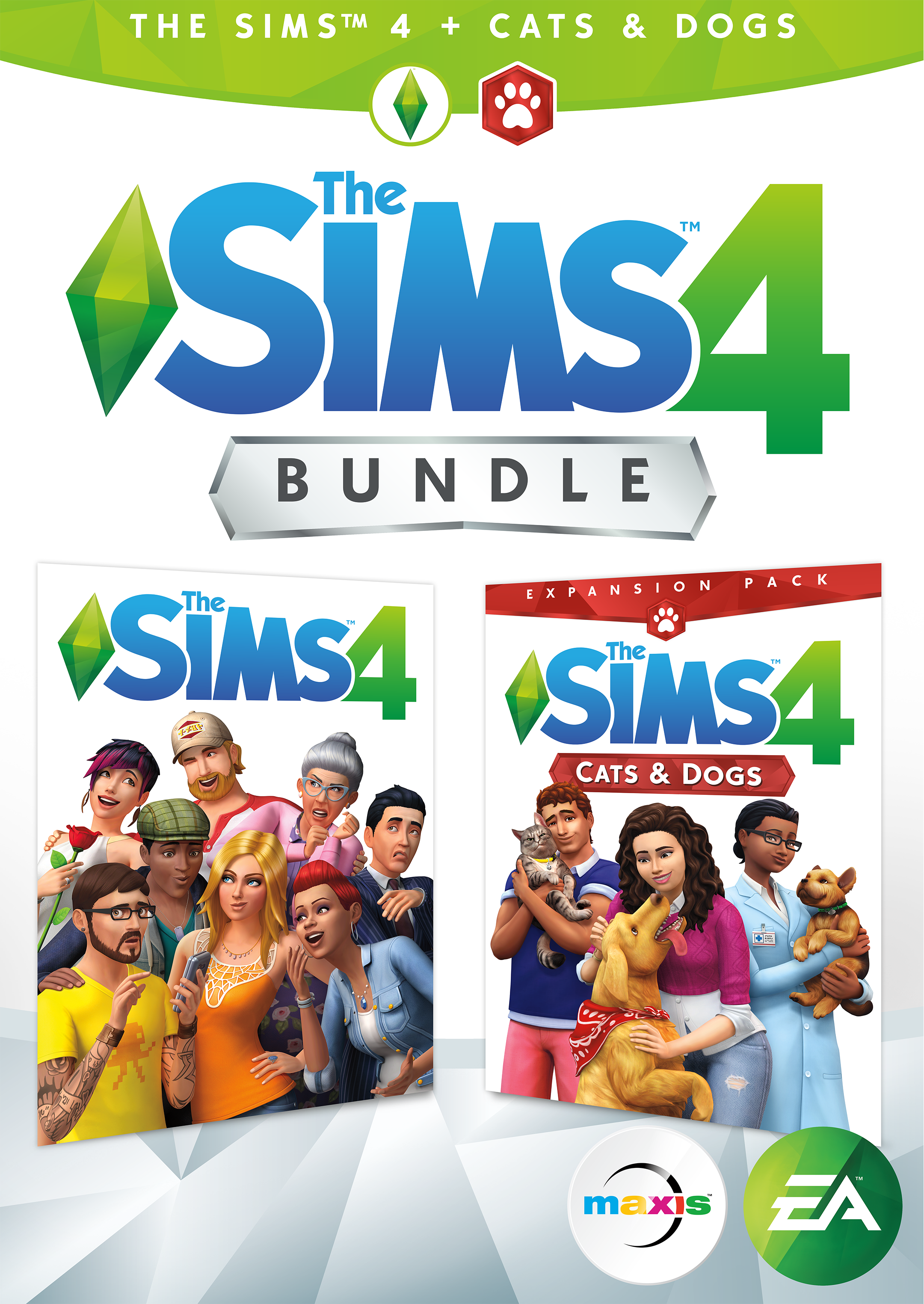 The Sims 4 Plus Cats & Dogs Bundle [Online Game Code] (Sims 4 Cats And Dogs Expansion Pack)
