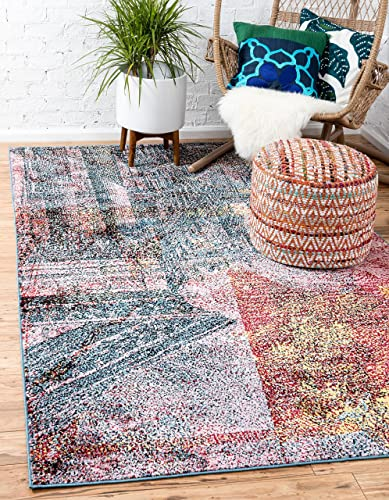 Unique Loom Metro Collection Vintage Pictoral Abstract Bright Colors Multi Area Rug 9 0 x 12 0