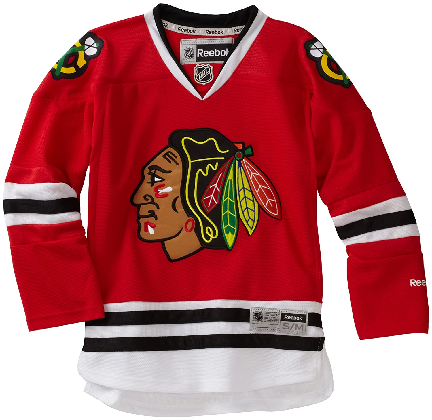 NHL Chicago Blackhawks Youth Boys 8-20 Team Premier Jersey, Red,Small/Medium NHL by Outerstuff R-58HXB-DD 58HXB-CHI-TC-S/M