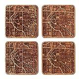 Denver Map Coaster by O3 Design Studio, Set Of