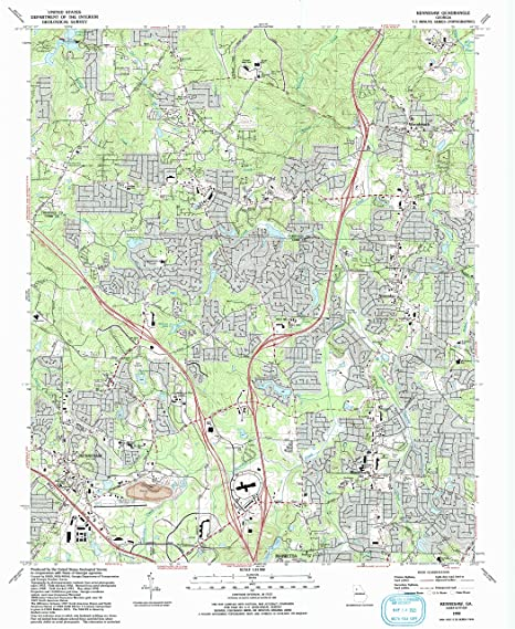 Map Of Georgia Kennesaw.Amazon Com Yellowmaps Kennesaw Ga Topo Map 1 24000 Scale 7 5 X