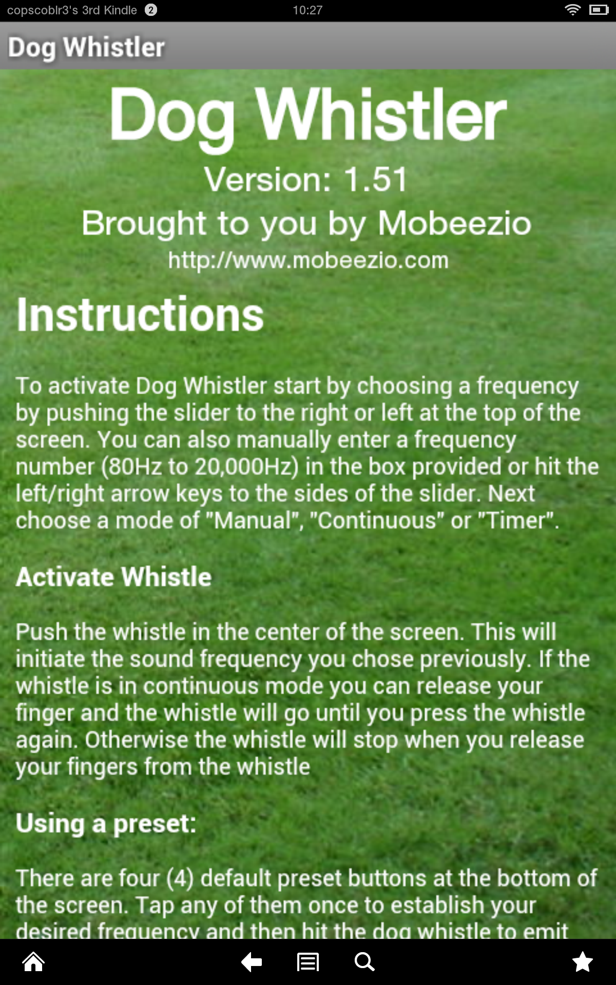 amazon com dog whistler appstore for android