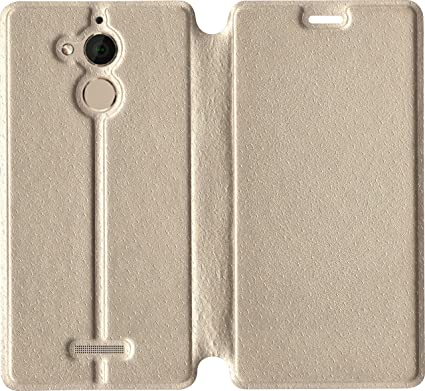 best cheap 77d81 4eccd Leather Flip Cover for Coolpad Note 5 (Gold)