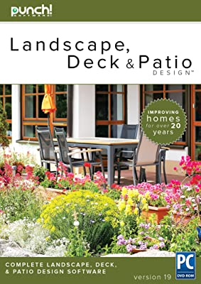 Punch! Landscape, Deck and Patio Design v19 Best-selling landscape design software for Windows PC [Download]