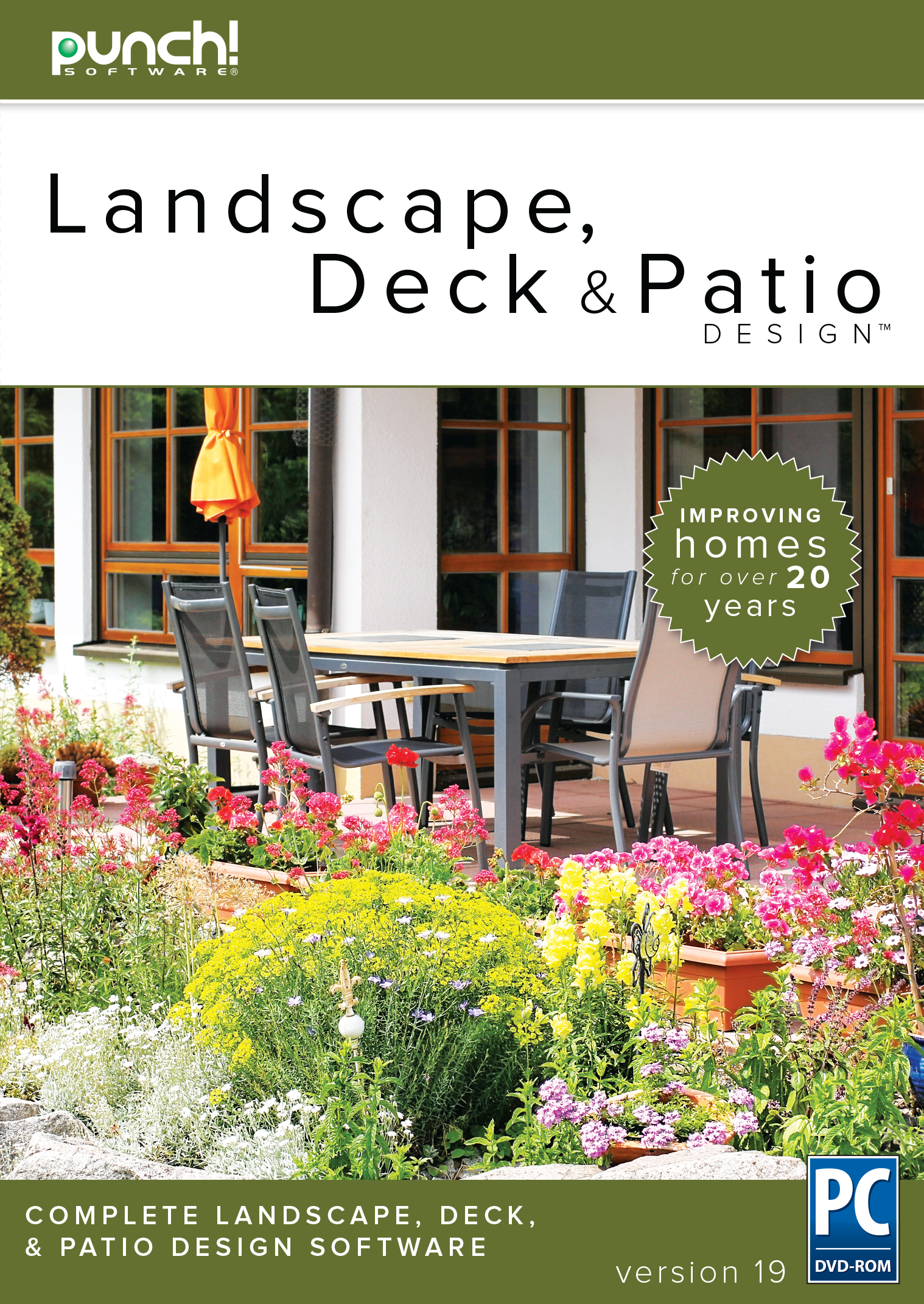 Punch landscape deck patio v17 7 vs sweet home 3d for Home landscape design architectural series v17