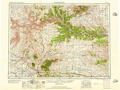 Lewiston Montana Map.Amazon Com Yellowmaps Lewistown Mt Topo Map 1 250000 Scale 1 X 2