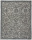Stone & Beam Floral Wool Area Rug, 4 x 6 Foot, Blue