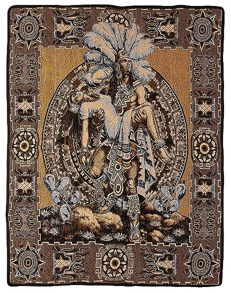 Mexican Aztec Warrior Popocatepetl Guerrero Azteca Legend Pictorial