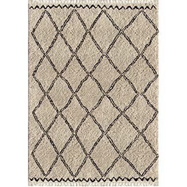 Orian Rugs Bedouin Collection 5001 Desert Trellis Area Rug with Fringe, 5'3  x 7'6 , Off-White
