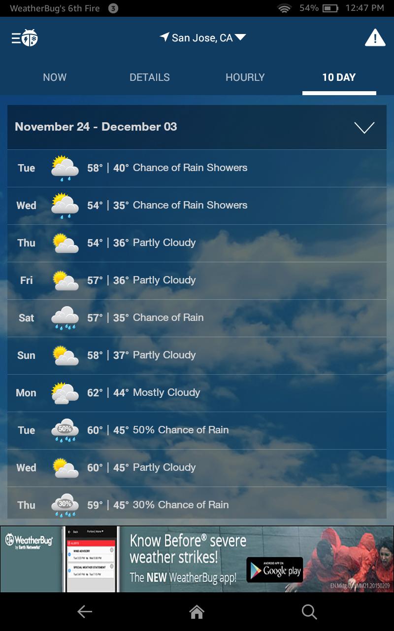 WeatherBug - Free Local Weather Forecast, Radar Map & Severe