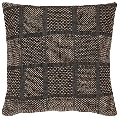 Stone & Beam Casual Woven Square Throw Pillow, 17  x 17 , Black