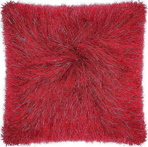 Nourison Mina Victory TR008 Yarn Shimmer Shag Throw Pillow