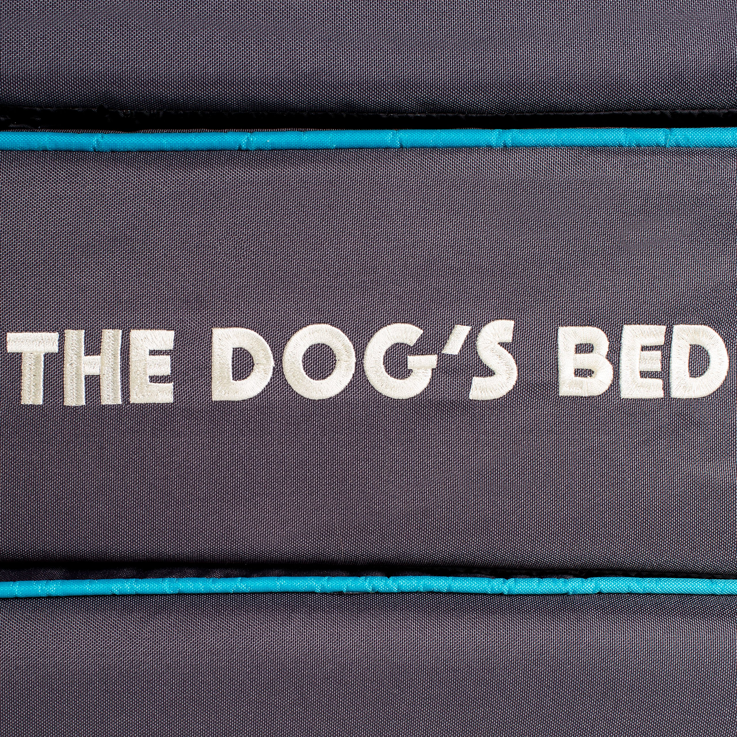 "Replacement Cover ONLY For The Dog's Bed, Washable Quality Oxford Fabric, XXL 54"" x 36"" x 6"" (Grey With Blue Piping) by The Dog's Balls (Image #4)"