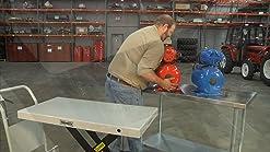 """HFS 102X102X152MM 4x4x6/"""" Stainless Steel R Lab Jack"""