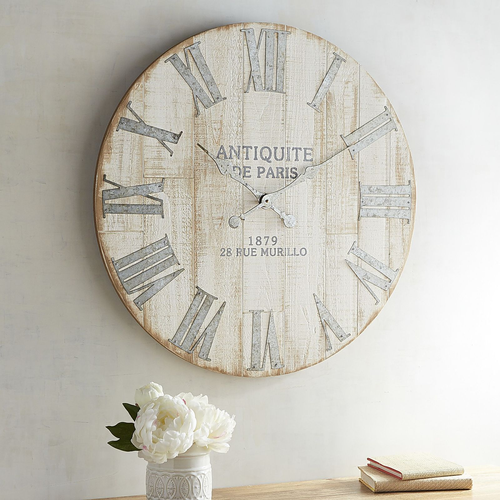 Whitewashed Wall Clock | Pier 1 Imports