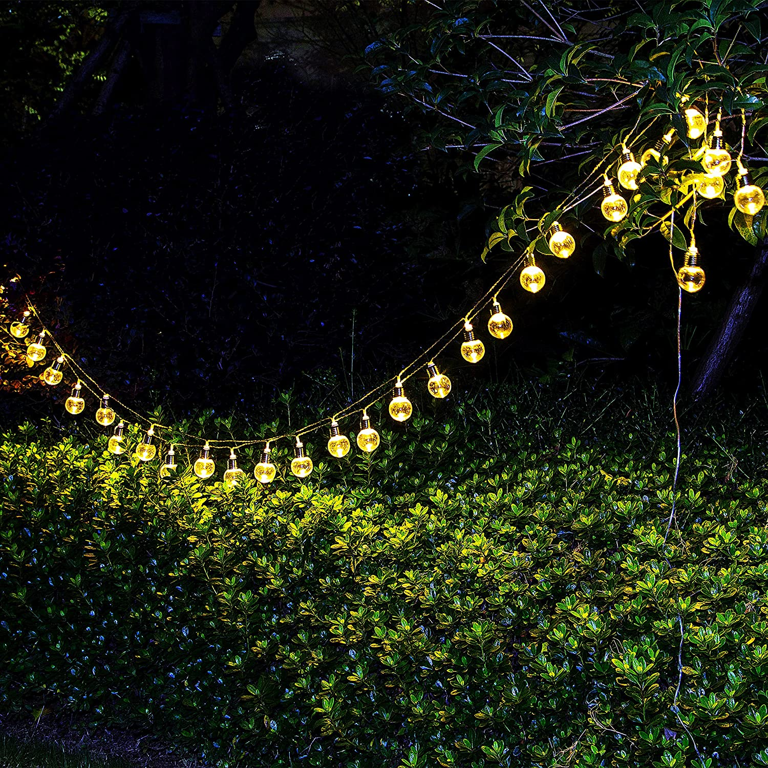 Solar String Lights,Warm White LED,Solar Lights Outdoor
