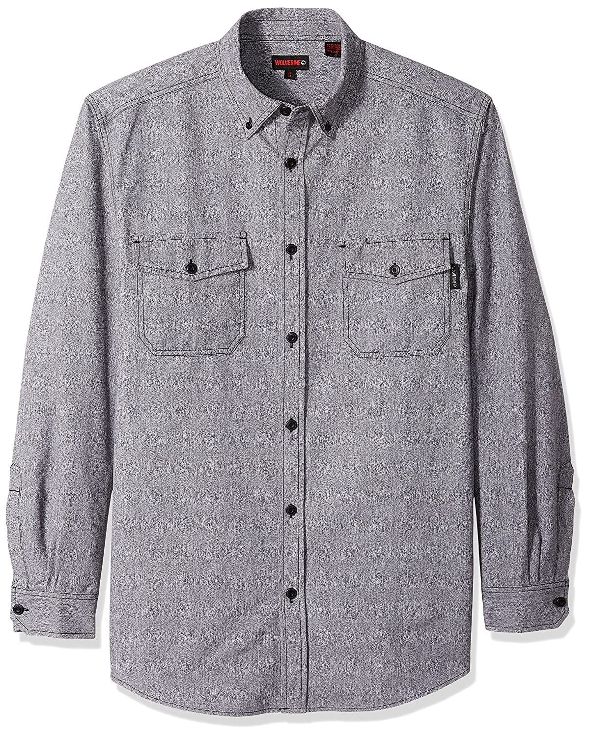 Wolverine SHIRT メンズ B071GXVS2S X-Large Tall|グレー グレー X-Large Tall