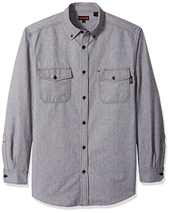 6e6bd2785f Amazon.com  Wolverine Men s Big and Tall Drummon Long Sleeve Marl Texture Flannel  Shirt  Clothing