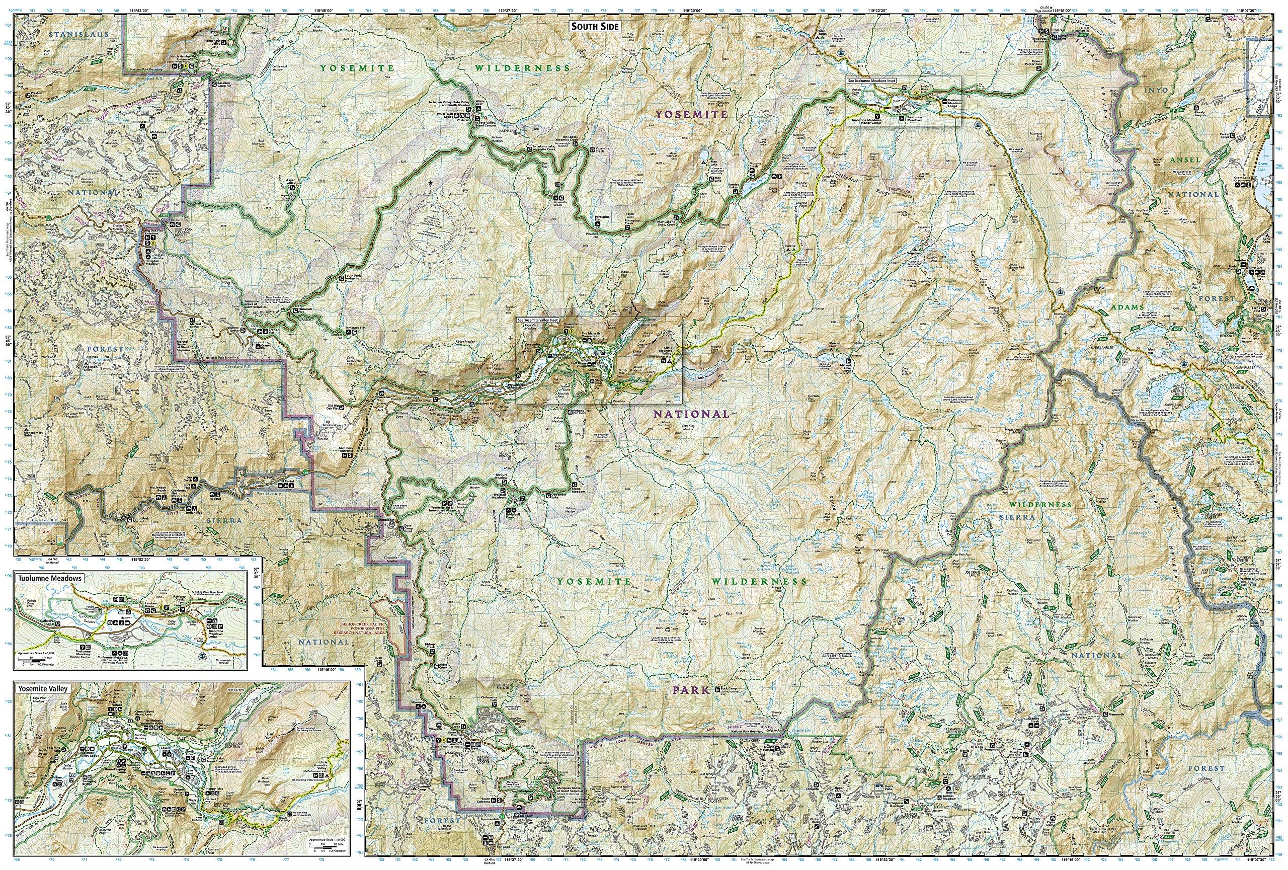 Yosemite National Park National Geographic Trails Ilrated Map National Geographic Maps Trails Ilrated 0749717012066 Amazon Com Books