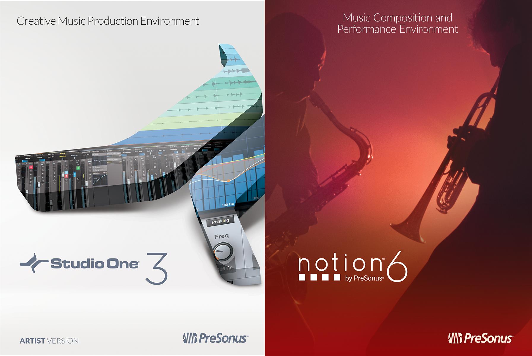 PreSonus Artist Bundle (Studio One 3 Artist and Notion 6) [Online Code] (Digital Performer 7 Software)