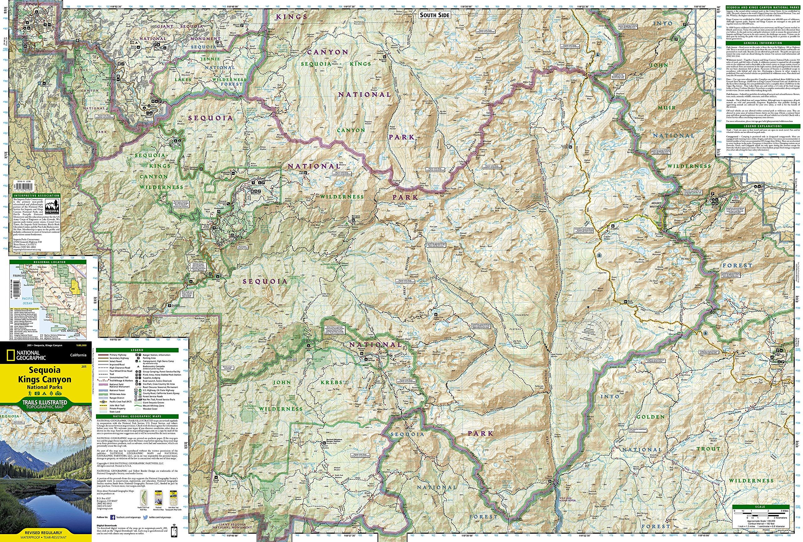 Sequoia and Kings Canyon National Parks (National Geographic Trails on canyons park city ski map, park city lift map, sedona arizona hiking trails map, canyons resort village map, canyons ski trail map, the canyons ski resort, the canyons park city, grand canyon hiking map, into the wild trail map, utah canyons map,