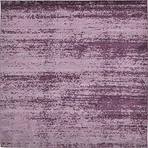 Unique Loom Del Mar Collection Contemporary Transitional Violet Square Rug 8 0 x 8 0