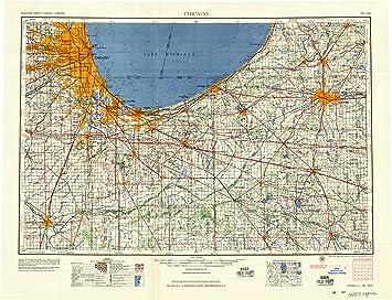 Amazon.com : YellowMaps Chicago IL topo map, 1:250000 Scale ...