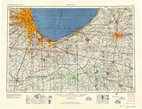 Amazon.: YellowMaps Chicago IL topo map, 1:250000 Scale, 1 X 2