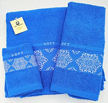 Confort Home M.T (Soft Celeste) Juego Toallas de baño 3 Piezas (1 Toalla