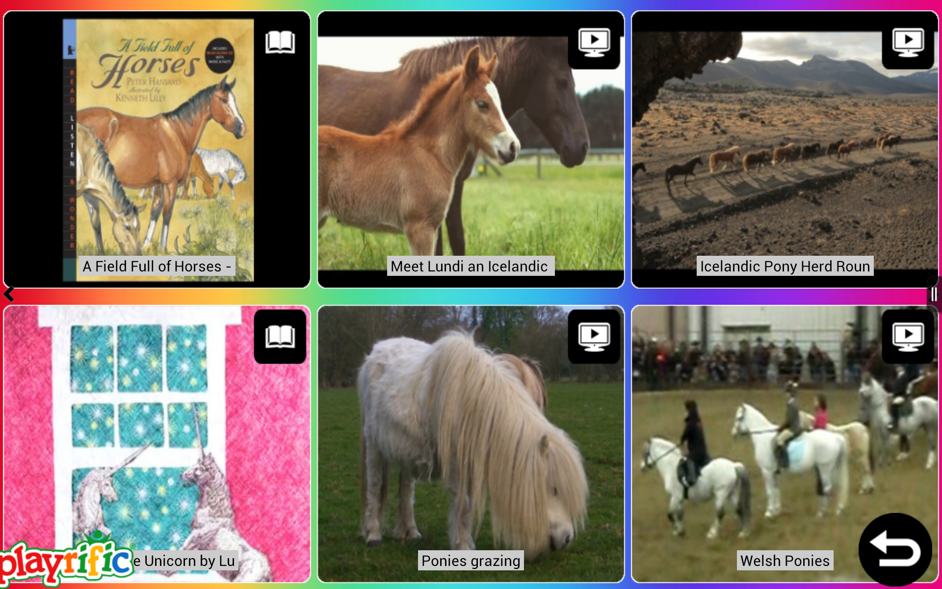 Ponies and Horses: Real & Cartoon Pony Books, Videos, Games, Photos & Activities for Kids by Playrific