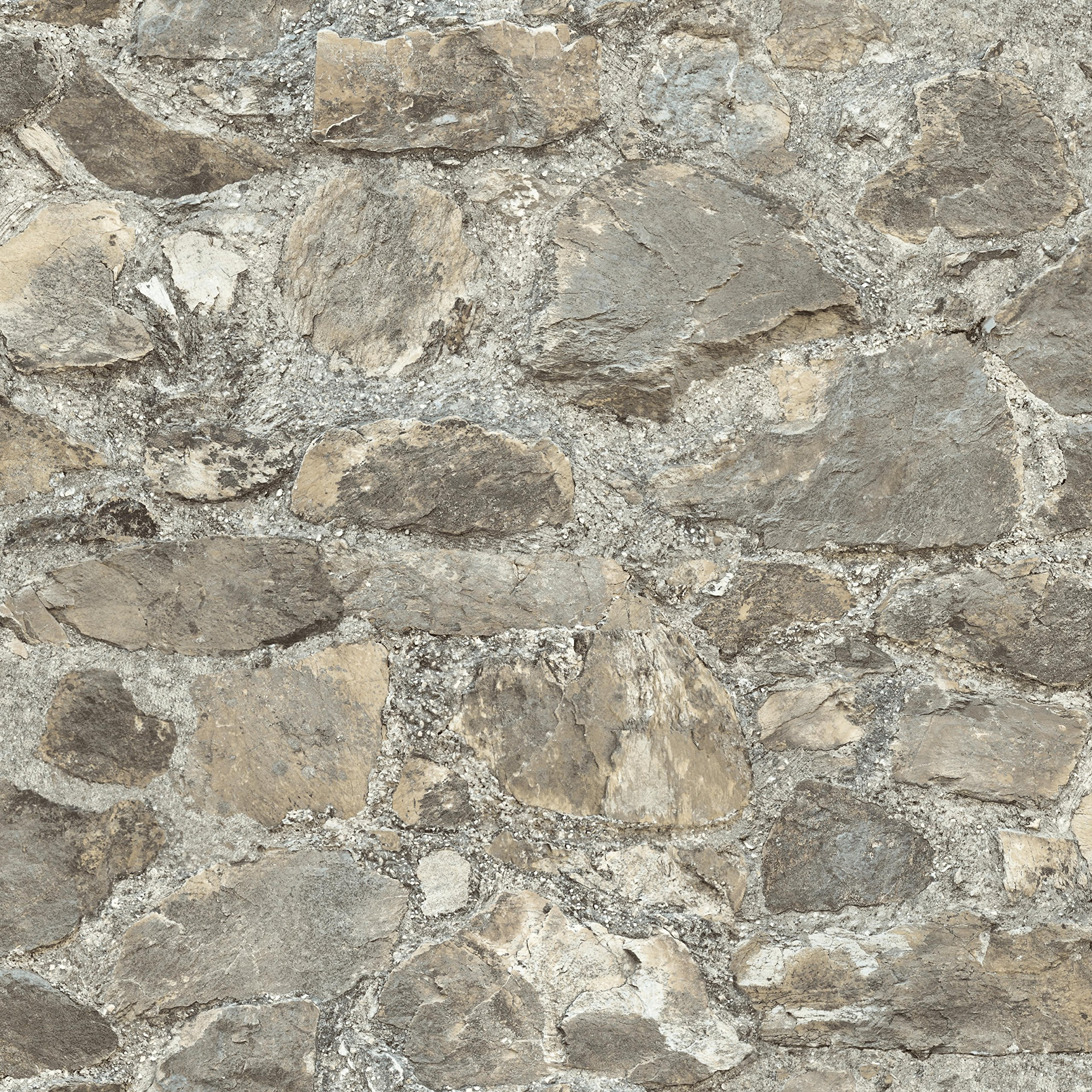 Weathered Stone Repositionable and Removable Peel and Stick Wallpaper