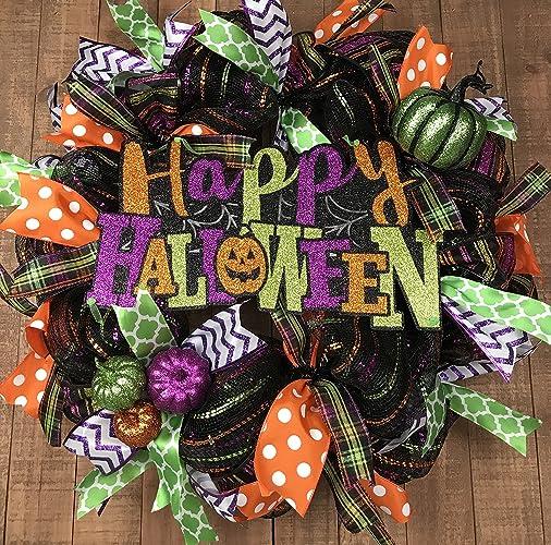 Happy Halloween Wreath