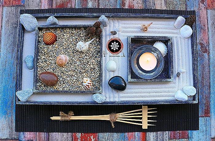 Arredamento Zen Casa : Giardino zen in miniatura o zen garden da tavolo in legno per