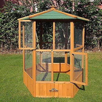 Mascotas Imperial stunning de madera diseño de pájaro pajarera Hexgonal 5 ft 2 Por 4 ft 9
