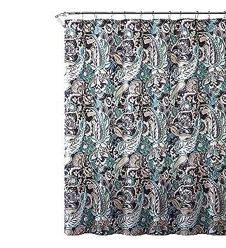 Mint Green Shower Curtain. Elegant Gray Mint Green Beige Fabric Shower Curtain  Large Floral Paisley Print Design 72 quot Amazon com