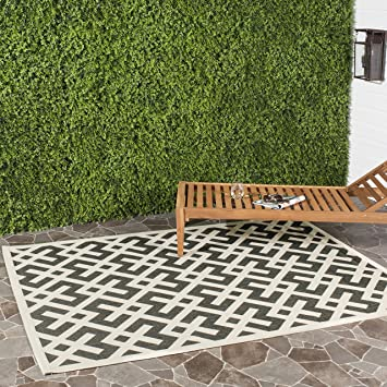 safavieh courtyard collection cy6915216 black and beige indoor outdoor area rug 9