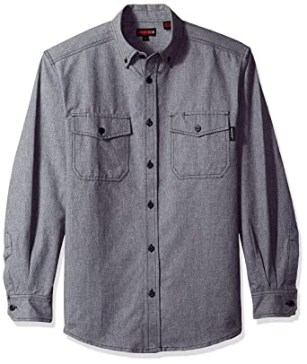 010a26dc96 Amazon.com  Wolverine DRUMMOND LONG SLEEVE FLANNEL SHIRT Men M GRAY ...