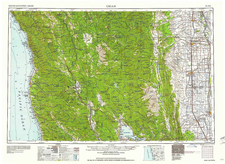 Amazon Com Yellowmaps Ukiah Ca Topo Map 1 250000 Scale 1 X 2