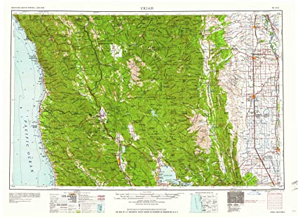 Bodies Of Water In California Map.Amazon Com Yellowmaps Ukiah Ca Topo Map 1 250000 Scale 1 X 2