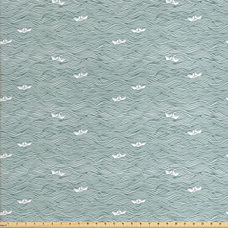 Amazon Com Lunarable Nautical Fabric By The Yard Sea Themed Little