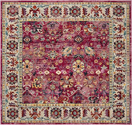 Safavieh Savannah Collection Premium Wool Square Area Rug, 7 , Violet Grey
