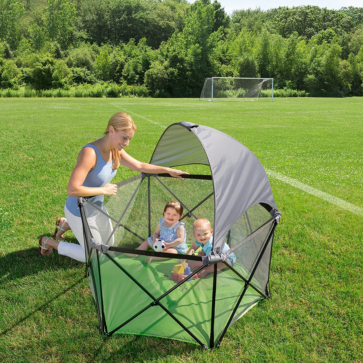 Amazon.com  Summer Infant Pop Nu0027 Play Ultimate Portable Playard  Baby & Amazon.com : Summer Infant Pop Nu0027 Play Ultimate Portable Playard ...