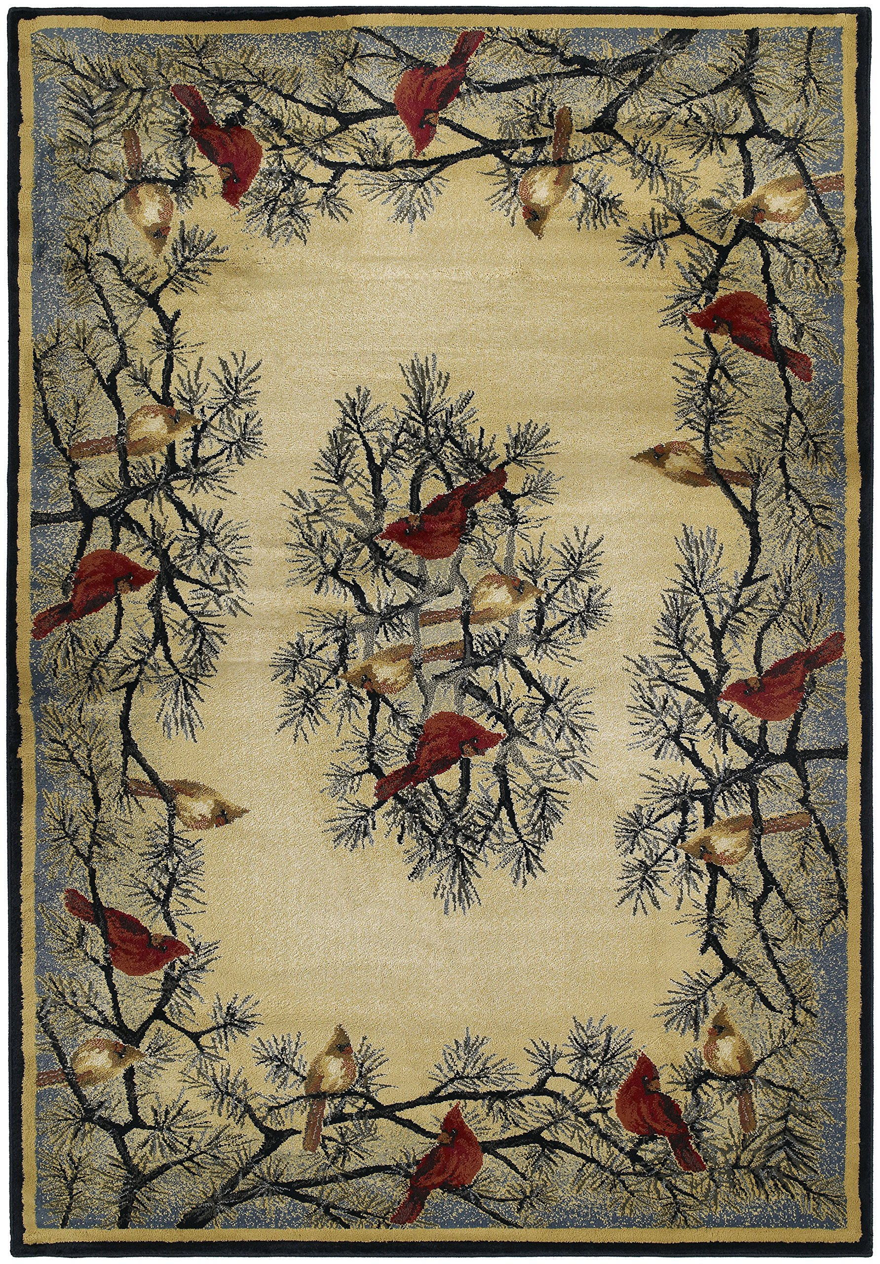 United Weavers of America Hautman Cardinal in Pine 1'10'' x 3' Rug, Multicolor, Scatter