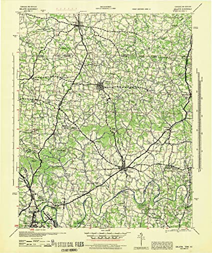 Amazon.com : YellowMaps Gallatin TN topo map, 1:100000 Scale, 30 X ...