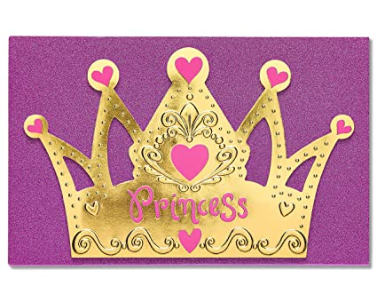 American Greetings Princess Birthday Card For Girl With Glitter