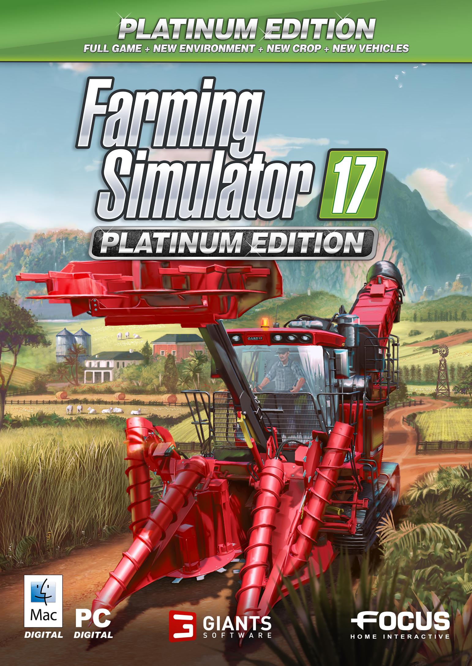 Farming Simulator 17 - Platinum Edition PC/MAC [Online Game Code] by Focus Home Interactive