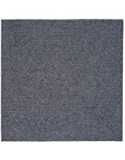 Peel and Stick 12x12 Self Adhesive Do It Yourself (DIY) Ribbed Carpet Floor Tiles for Residential & Commercial Carpet Squares for Flooring Use (Smoke)